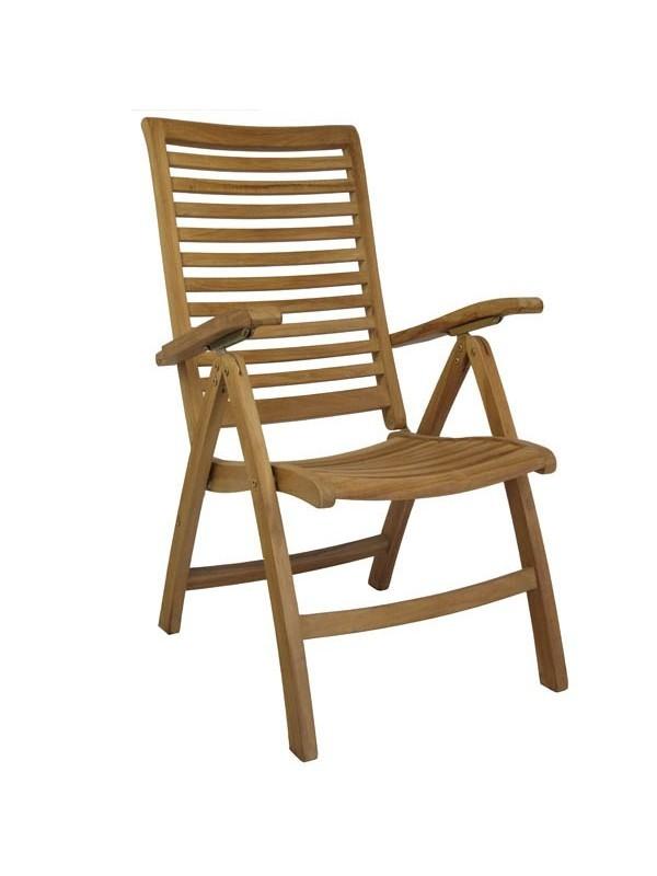 Sill n reclinable de teca buckingham muebles jardin for Sillon reclinable exterior