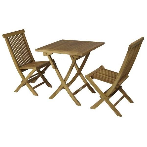 Conjunto teka mesa cuadrada muebles jardin maquinaria - Conjuntos muebles jardin ...