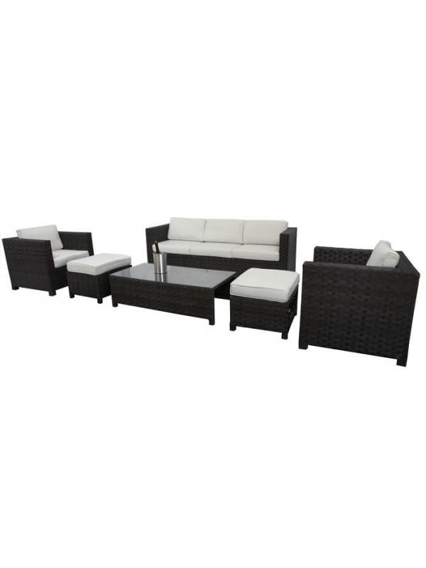 Conjunto de fibra sint tica cies 6 piezas muebles for Conjunto jardin fibra sintetica