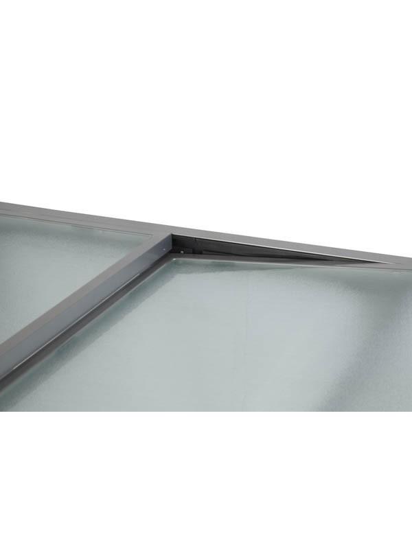 Mesa extensible cristal 90 180x90x75cm 2 muebles jardin for Mesa cristal 90 cm