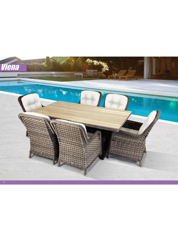 Conjunto de fibra de sof s y mesa 4piezas muebles for Conjunto jardin fibra sintetica
