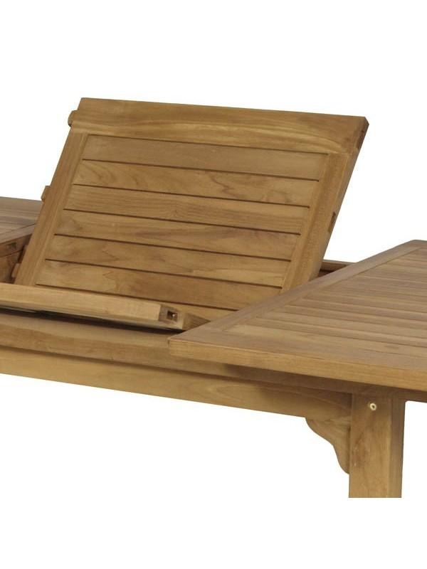 Mesa de teka extensible 180x240x100x75cm muebles jardin for Muebles teka jardin